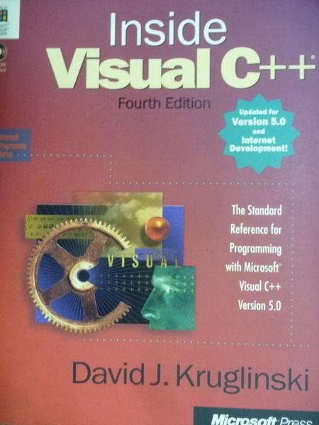 【書寶二手書T6/大學資訊_QXW】Inside Visual C++(Version 5.0)_Kruglinski_