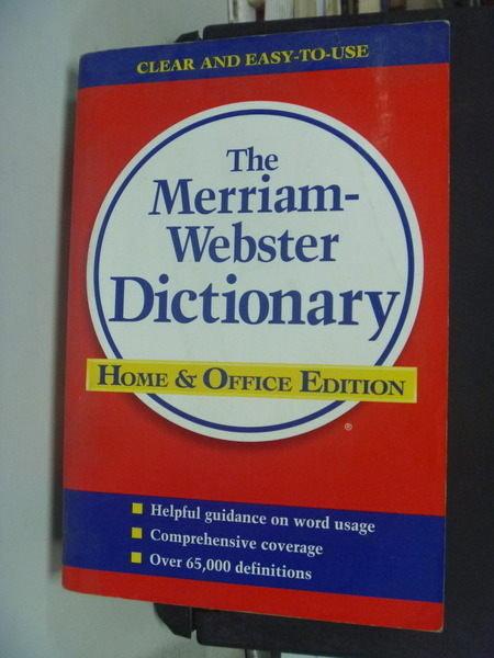 【書寶二手書T4╱字典_NSZ】Merriam-Webster Dictionary_Merriam-Webs, mor