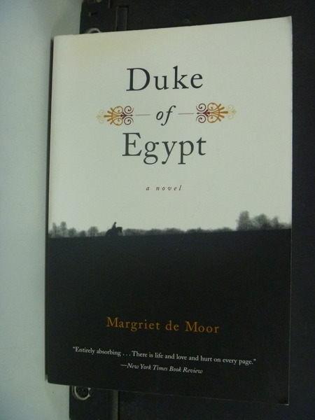 【書寶二手書T5╱原文小說_IDD】Duke of Egypt