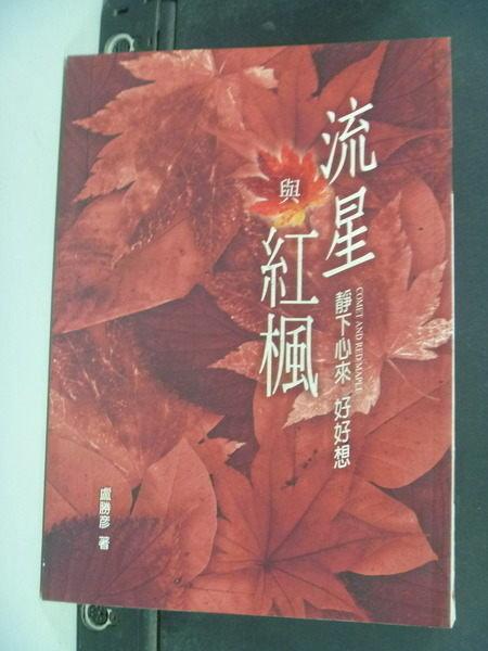 【書寶二手書T6╱宗教_IGD】流星與紅楓_盧勝彥