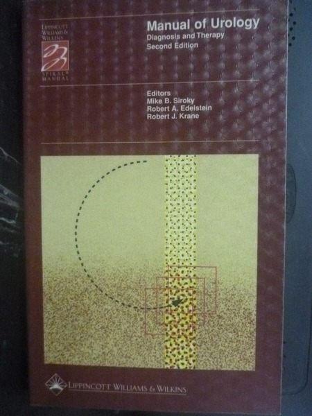 【書寶二手書T3/大學理工醫_LLM】Manual of Urology
