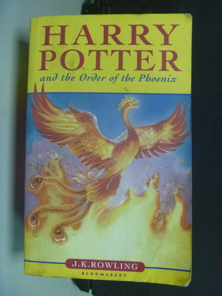 【書寶二手書T6/原文小說_IPA】?Harry Potter and the Order.. Phoenix