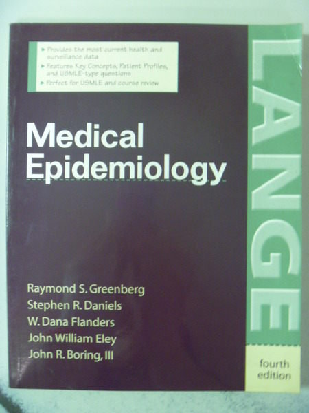 【書寶二手書T8/大學理工醫_ZBZ】Medical Epidemiology_Greenberg_4/e