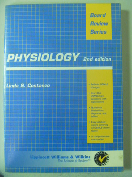 【書寶二手書T6/大學理工醫_ZBZ】Physiology: Board Review Series_Linda_2/e