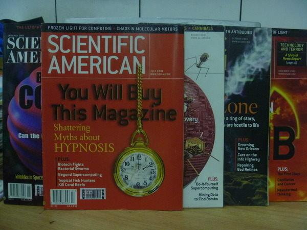 【書寶二手書T3/語言學習_POE】Scientific_2001/1~12期間_5合售_Cosmos等