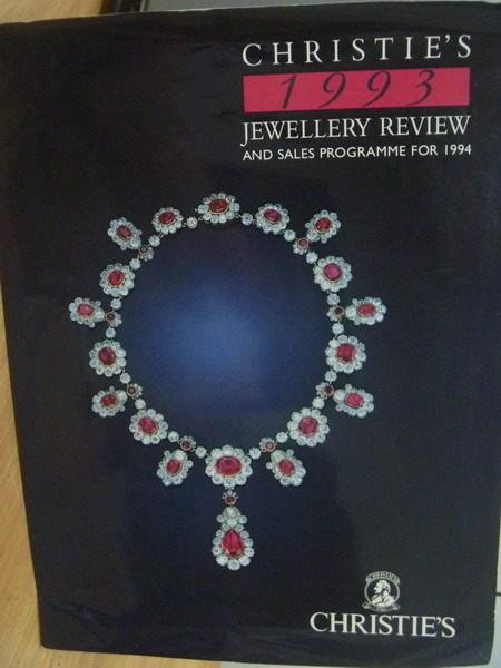 【書寶二手書T7/收藏_PPX】Christies_1993年_Jewellery Review…