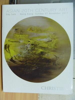 【書寶二手書T9/收藏_ZJL】Christies_2011/11_Asian 20th Century Art
