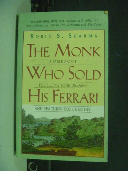 【書寶二手書T4/原文小說_ITB】The Monk Who Sold His Ferrari