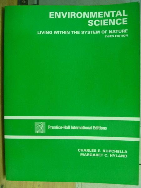【書寶二手書T4/大學理工醫_WDT】Environmental Science_3/e_Hyland_1993年