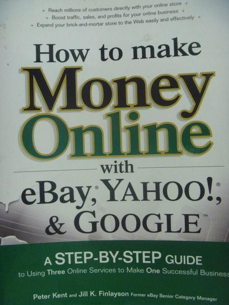 【書寶二手書T4/財經企管_QKV】How to make money online…_Kent