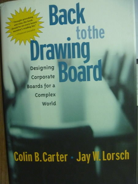 【書寶二手書T4/財經企管_QLF】Back to the Drawing Board_Carter