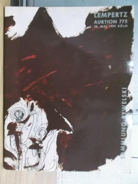 【書寶二手書T9/收藏_YGC】LEMPERTZ Auktion 775_1999.Mai.28_德文