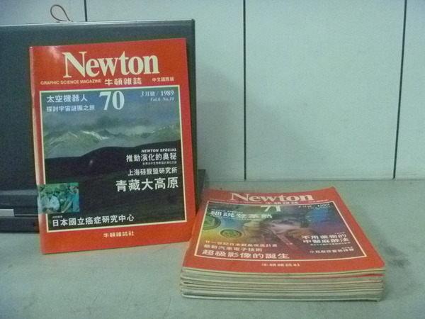 【書寶二手書T8/雜誌期刊_RDM】牛頓_70~77期間_共6本合售_太空機器人等