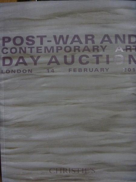 【書寶二手書T3/收藏_ZGJ】Christies_2013/2/14_London_Post-War…