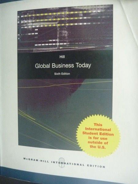 【書寶二手書T3/大學商學_ZBG】Global Business Today
