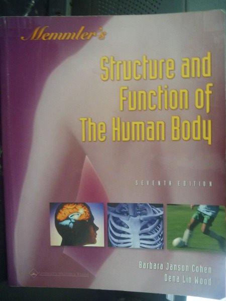 【書寶二手書T8/大學理工醫_ZHK】The structure & function