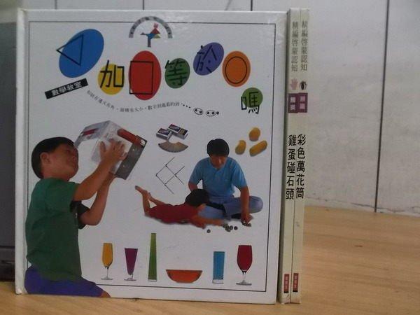 【書寶二手書T2/少年童書_XFL】雞蛋碰石頭_彩色萬花筒等_3本合售