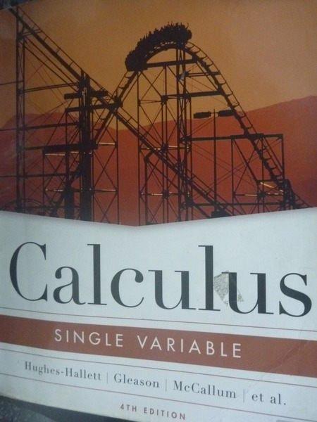 【書寶二手書T8/大學商學_YEW】Calculus: Single Variable
