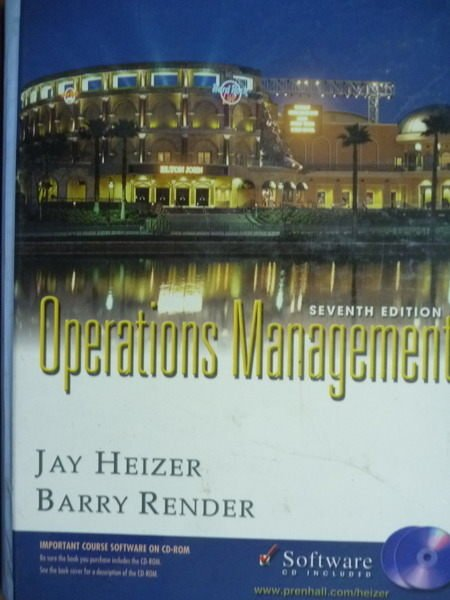 【書寶二手書T3/大學商學_PEZ】Operations Management_Heizer,Render