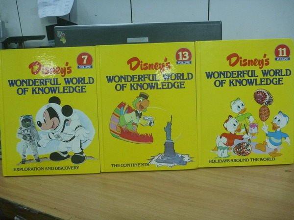 【書寶二手書T8/少年童書_ZIW】Disneys Wonderful world...7.11.13冊_3本合售