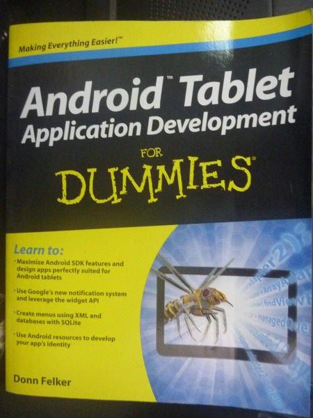 【書寶二手書T9/電腦_ZBC】Android Tablet Applicatio