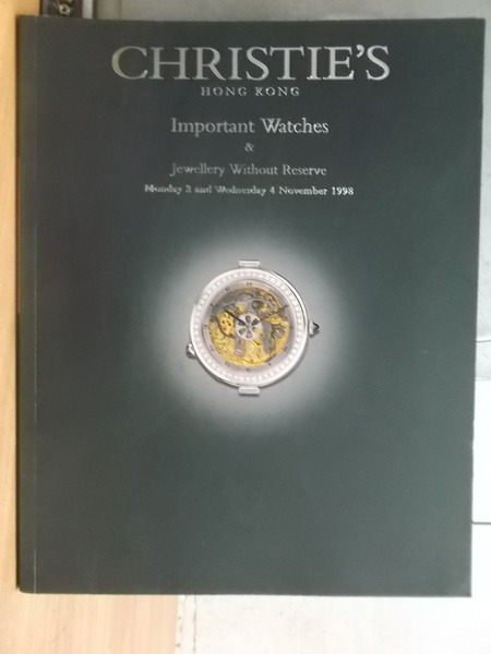 【書寶二手書T2/收藏_XGS】Christies_1998_important watches