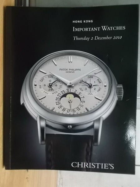 【書寶二手書T8/收藏_XBF】Christies_Important Watches_2010/12