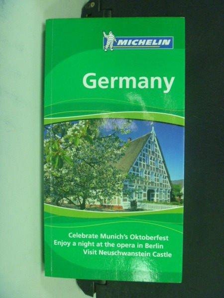 【書寶二手書T6/餐飲_NAN】Germany_Michelin Green Guide