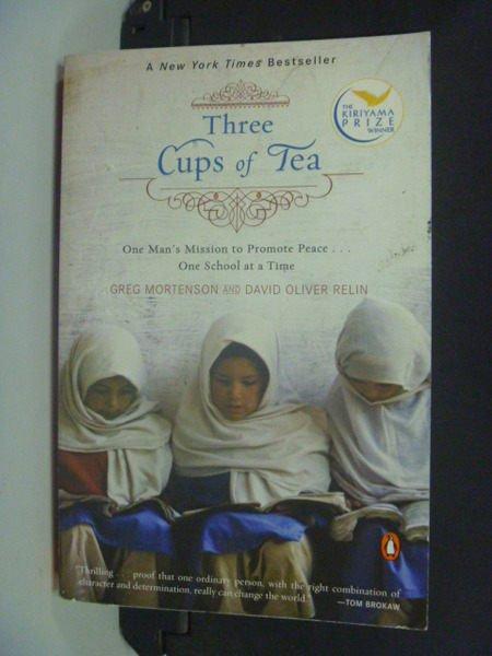 【書寶二手書T8/原文小說_NAL】Three Cups of Tea_Mortenson