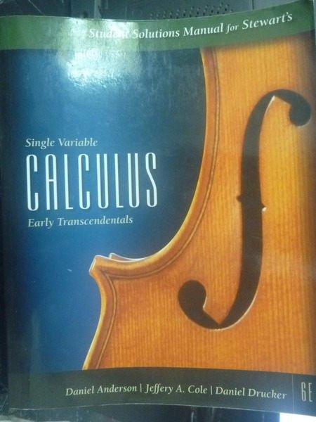 【書寶二手書T4/大學商學_ZEH】Single Variable Calculus