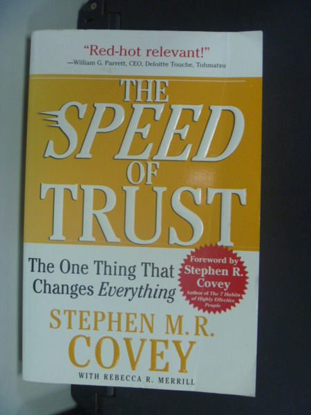 【書寶二手書T5/財經企管_NQE】The Speed of Trust_M.R. Covey
