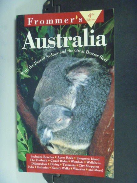 【書寶二手書T3/旅遊_NCY】Frommers Australia_Elizabeth Hansen
