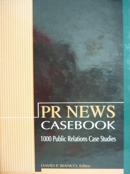 【書寶二手書T4/大學社科_PKP】Pr News:Casebook_David P.Bianco