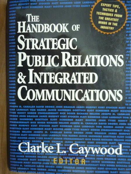 【書寶二手書T2/大學商學_PHD】The handbook of strategic public …