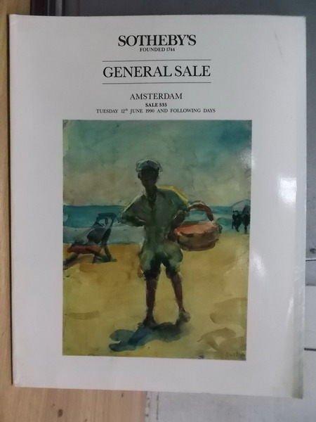 【書寶二手書T5/收藏_ZIJ】Sothebys_General Sale_1990/6/12