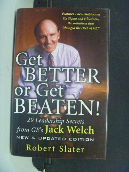 【書寶二手書T4/行銷_KAM】Get better or get beaten_SLATER