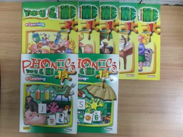 【書寶二手書T8/語言學習_RDY】You & Me網路遠距視訊教學精裝盒1_7本+12DVD合售