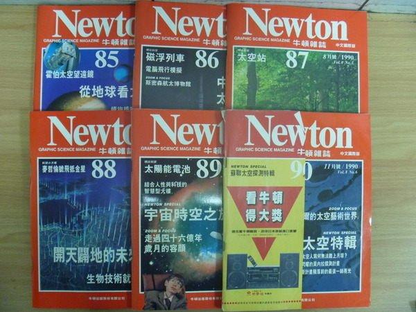 【書寶二手書T5/雜誌期刊_RGV】牛頓_85~90期間_6本合售_磁浮列車等