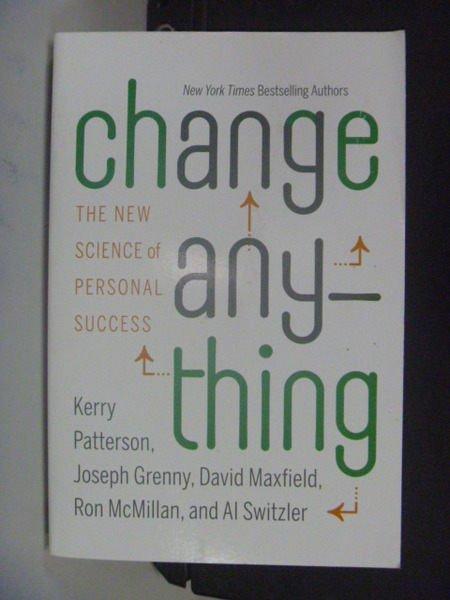 【書寶二手書T6/財經企管_LDH】Change Anything_Kerry Patterson