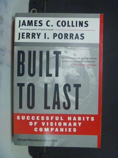 【書寶二手書T8/財經企管_NMA】Built to Last: Successful Habits