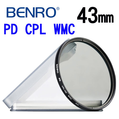 百諾 BENRO 43mm PD CPL-HD WMC 12層奈米高透光鍍膜環型偏光鏡