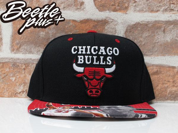 BEETLE MITCHELL&NESS NBA BULLS 公牛 黑紅 PIPPEN 復古 SNAPBACK 後扣帽