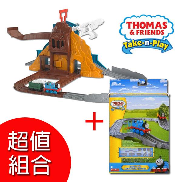 【湯瑪士小火車】帶著走系列-咆哮恐龍遊戲組+軌道配件 BCX23+Y3278