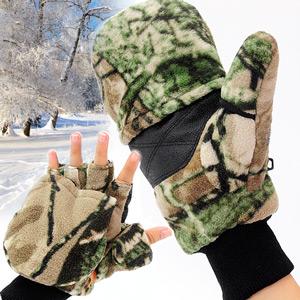 迷彩兩用保暖手套(可翻蓋手套掀蓋手套.防寒手套禦寒手套刷毛手套.連指手套半指手套露指手套短指手套.推薦.哪裡買)C99-0202