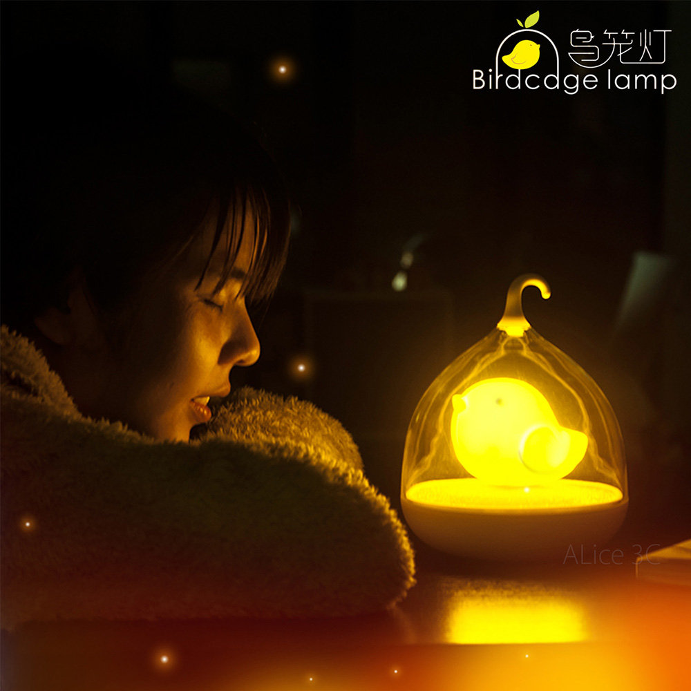 LED 小夜燈 小鳥燈 鳥籠燈【E1-005】原廠正品 觸控 節能 檯燈 手提燈 壁燈