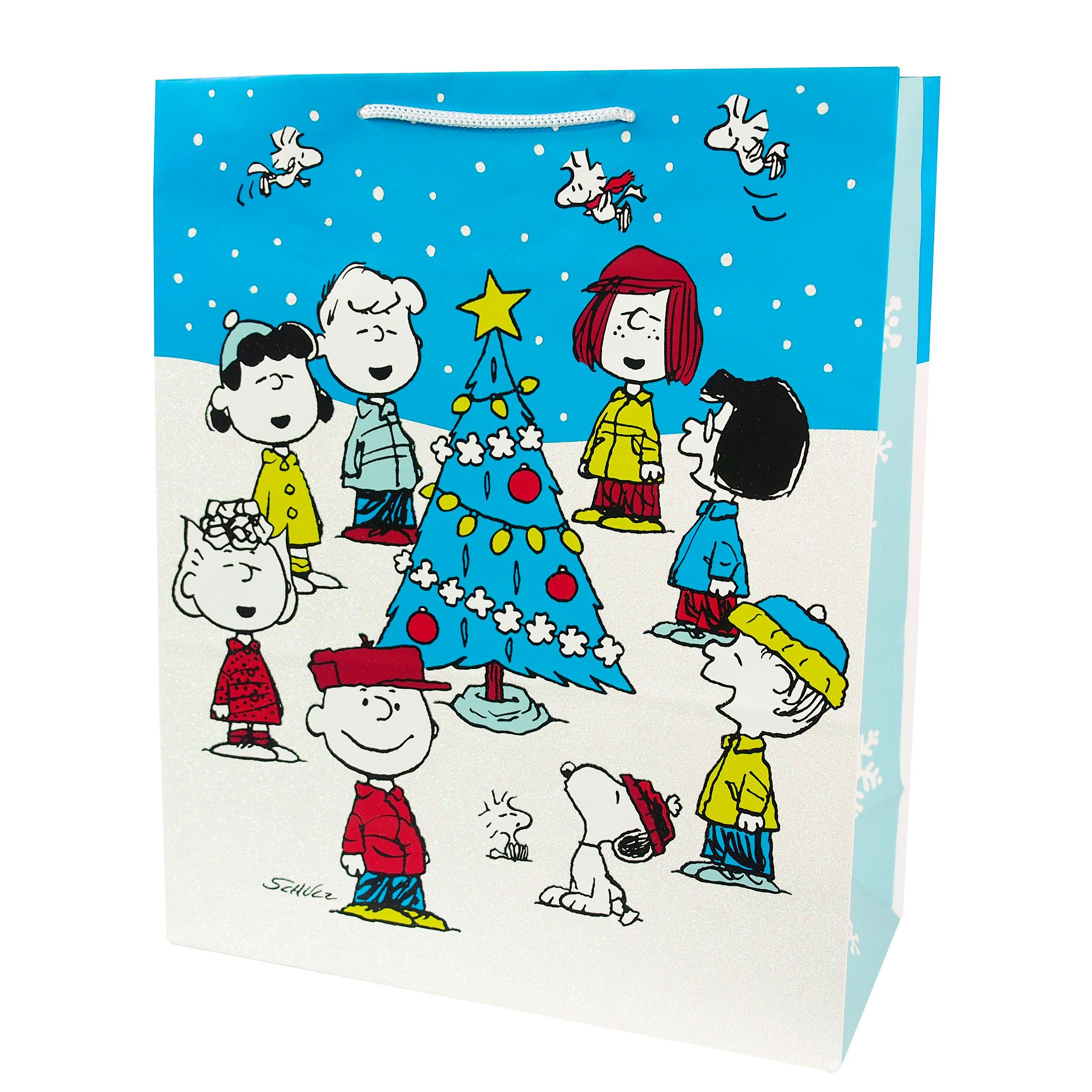 US 耶誕/聖誕禮物袋-Snoopy 史努比