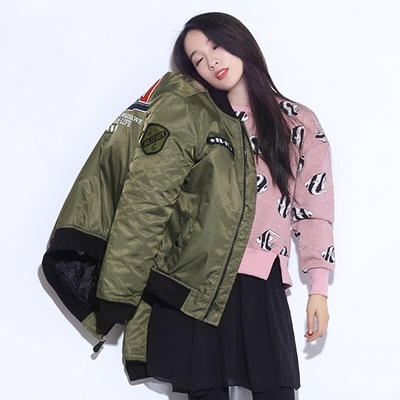 空軍夾克 MA1外套(單件)-寬鬆加厚棒球服圓領女外套72av12【獨家進口】【米蘭精品】