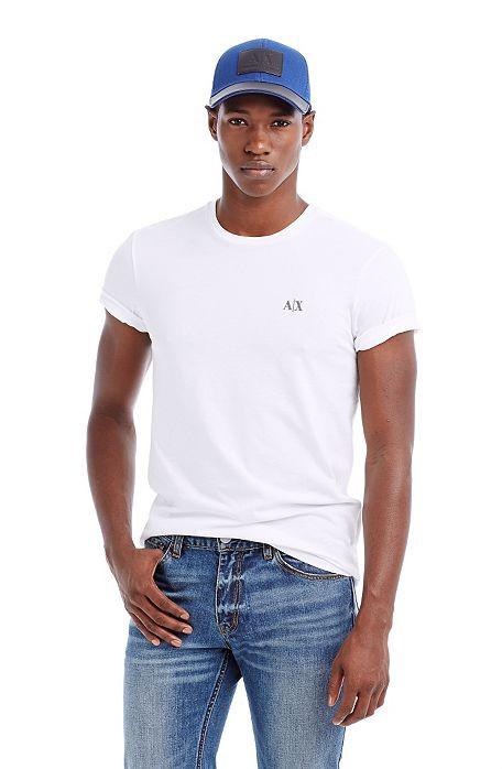 美國百分百【Armani Exchange】T恤 AX 短袖 T-shirt 圓領 凸字 logo 白色 男 XS號 E679