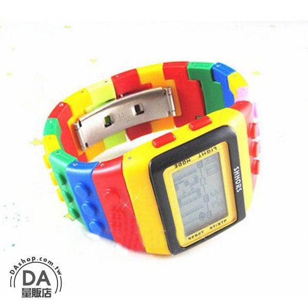 《DA量販店》彩虹 糖果色 樂高 LED 積木 手錶 對錶 6號(79-0570)