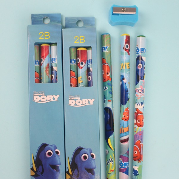 海底總動員2 多莉去哪兒學齡前鉛筆 學前兒童專用大三角鉛筆2B【一小盒3支入】 促[#60]~正版授權